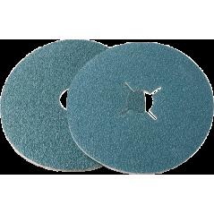 115x22 GR-80 DISCO DE FIBRA ( NEROX ) Z ZIRCONIO - INOX